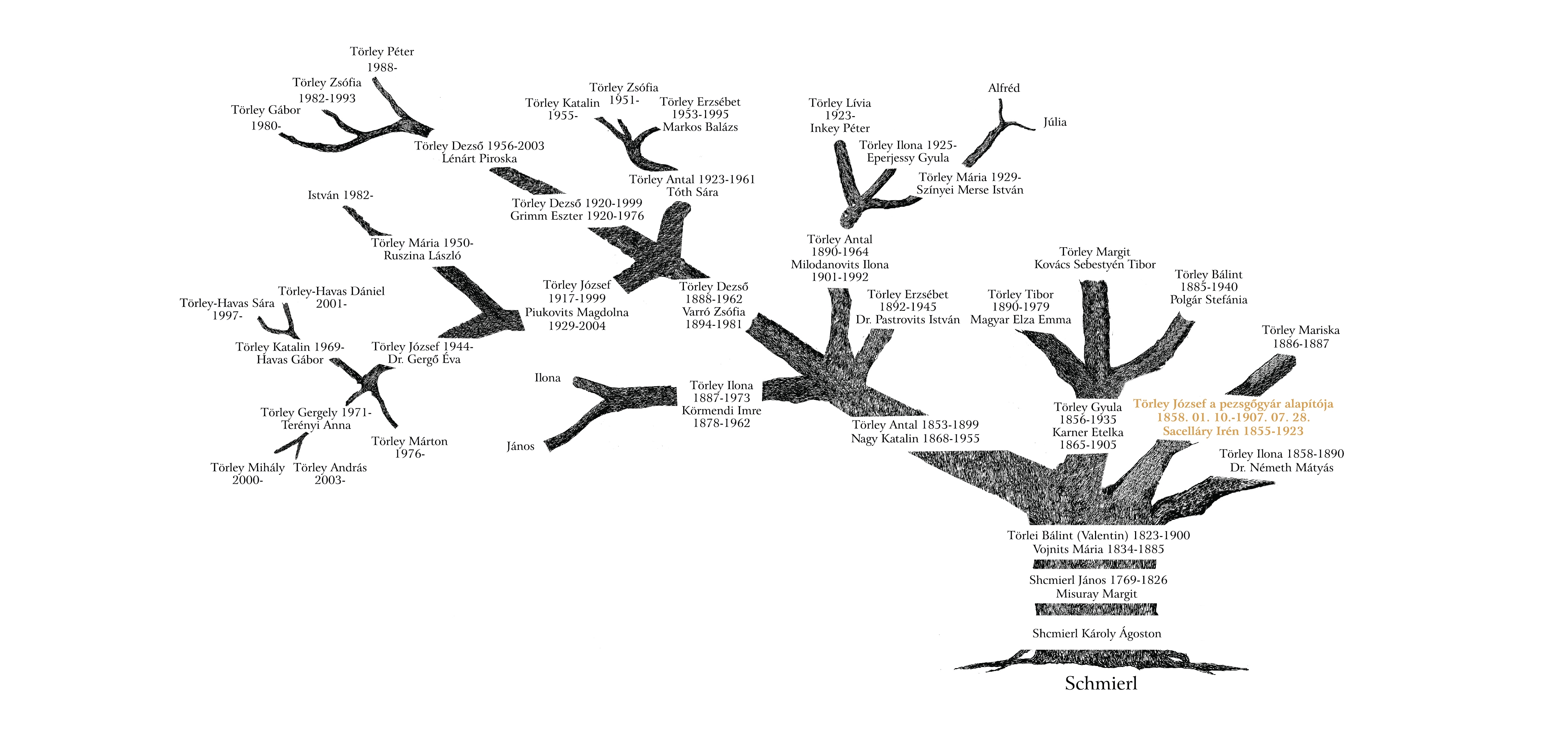 Törley családfa