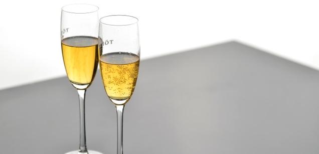 Törley pezsgő pohárban